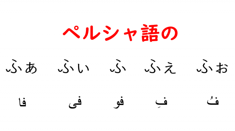 ペルシャ語のふぁ行